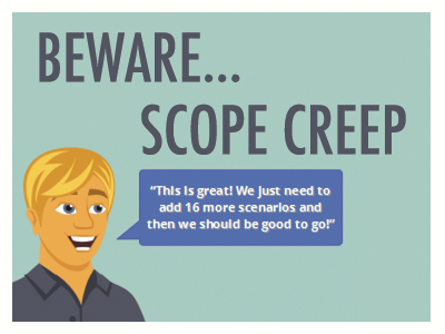scope creep Project managers have long attempted to develop processes and policies for effectively managing project scope most of these remedies, however, only obstructed the process of developing the.