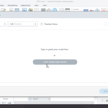 Create Text-to-Speech in Articulate Storyline 3/360