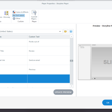 Adjusting Text Labels in Articulate Storyline