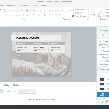 Customizing Pre-Made Content/Interactions from the Content Library in Articulate Storyline 360